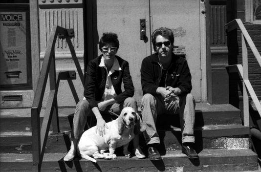 Джефф и Джейн со своей собакой. Сохо, 1980