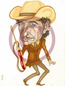 Bob Dylan cartoon, Боб Дилан, шарж