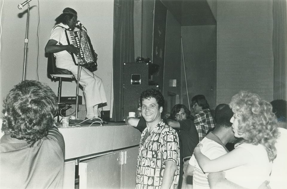 Clifton Chenier, Verbum Dei High School, Los Angeles 1980.jpg
