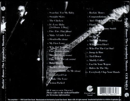 Ronnie Dawson, Rockin Bones, back CD cover