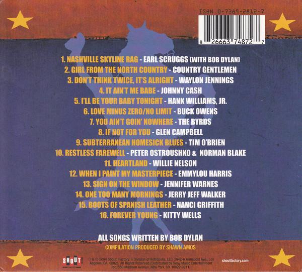 VA Dylan Country, задняя обложка CD